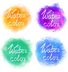 Abstract colorful water color backgrounds vector
