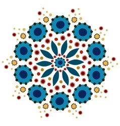 Dymkovo pattern vector