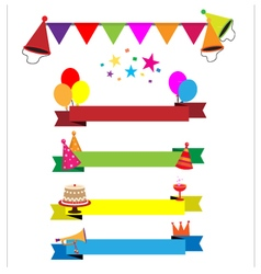 Ribbon party celebration vector