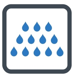 Drops flat icon vector