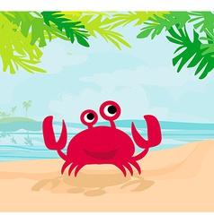 a funny crab vector image