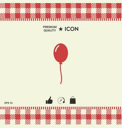 balloon symbol icon vector image vector image