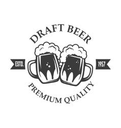 Best Beer Vintage craft beer retro design element vector image
