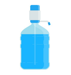 Big bottle with water vector