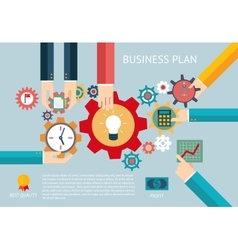 Business plan gears company team infographic work vector image vector image