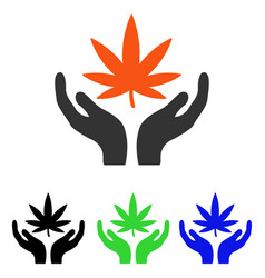 Cannabis care flat icon vector