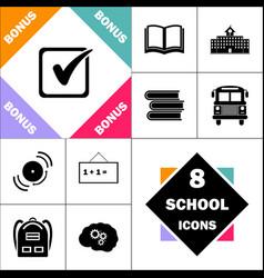 checklist computer symbol vector image vector image