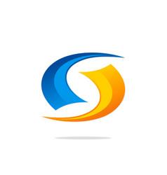 circle technology loop abstract logo vector image