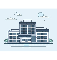 City street with police station modern vector