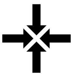 Compress arrows flat icon vector