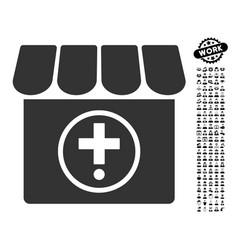 Drugstore icon with work bonus vector