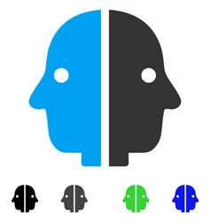 Dual face flat icon vector
