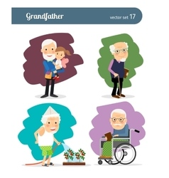 Grandfather cartoon character vector image vector image