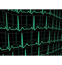 heartbeat on a black monitor eps 8 vector image vector image
