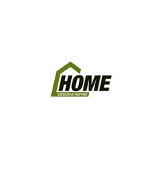 isolated real estate agency business logo house vector image