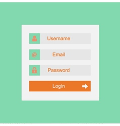 Login interface - username and password vector