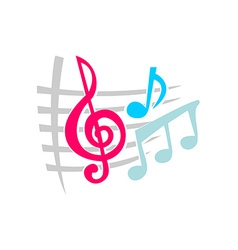 Notes music symbols vector image