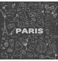 Paris line art design vector