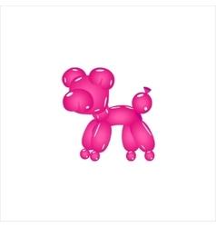 Pink balloon pig vector