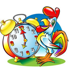 roosterclock vector image vector image