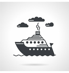 Sea ship black icon vector image vector image
