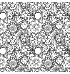 Seamless lace floral pattern on white background vector
