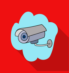 Security camera icon in flate style isolated on vector