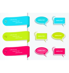 Speech bubbles and label vector