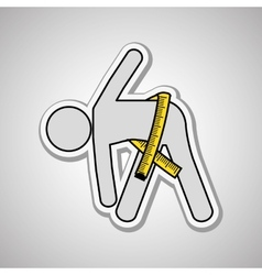 Stretching icon design vector