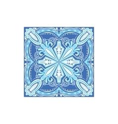 Tin-glazed azulejo tile portuguese famous symbol vector