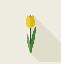 tulip flat icon vector image vector image