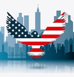 USA design vector image