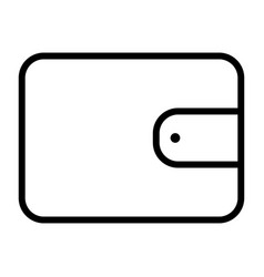 wallet pixel perfect thin line icon 48x48 vector image vector image