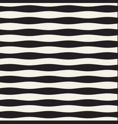 wavy stripes seamless pattern retro wavy vector image vector image