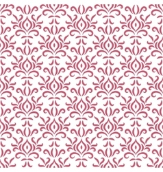 Red and white damask stylized seamless pattern vector image