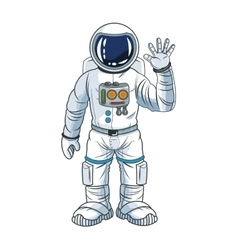 Astronaut space cartoon design vector image