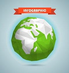 Polygonal of the earth infographic elements templa vector