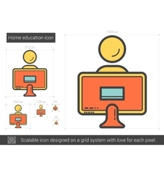 Home education line icon vector image