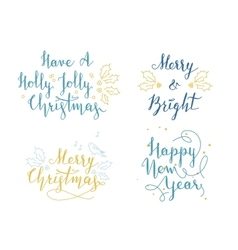 Lettering and calligraphy christmas and new year vector