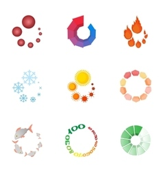 Loading and waiting icons set cartoon style vector