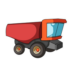 truck with a large windshield agricultural vector image