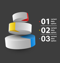abstract 3d pie chart infographics vector image