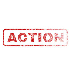 action rubber stamp vector image