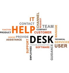 Word cloud help desk vector