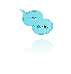 Speak bubble with best quality vector