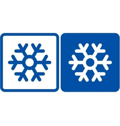 Snowflake sign vector