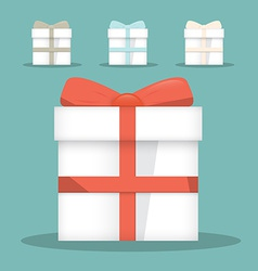 Flat design gift boxes set vector