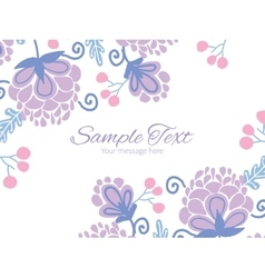 Soft purple flowers horizontal double vector