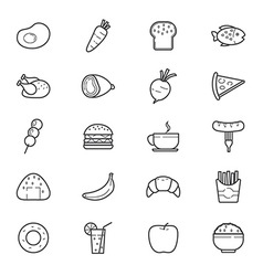 Food and Drink Icons Line vector image