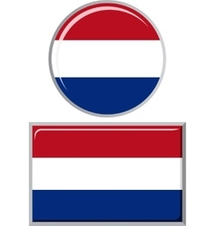 Dutch round and square icon flag vector